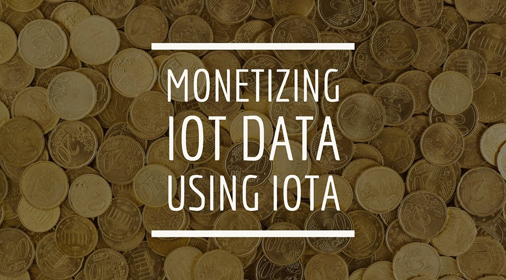 Monetizing IoT Data using IOTA | Benjamin Cabé