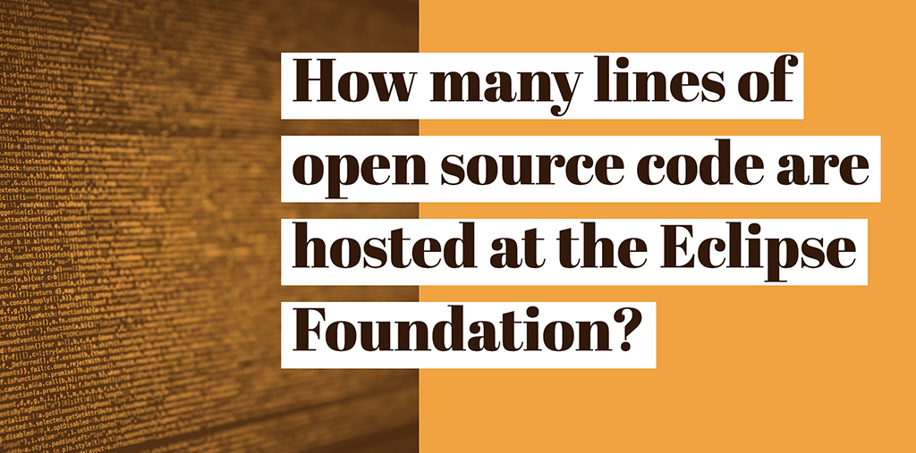 How many lines of open source code are hosted at the Eclipse
